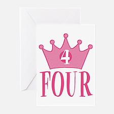 Four - 4th Birthday - Princess Birthday Party Gree
