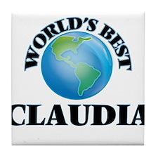 World's Best Claudia Tile Coaster