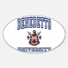 BENEDETTO University Oval Decal