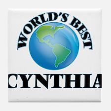 World's Best Cynthia Tile Coaster