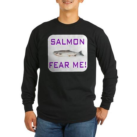 Salmon Fishing Long Sleeve Dark T-Shirt