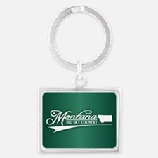 Montana State of Mine Keychains