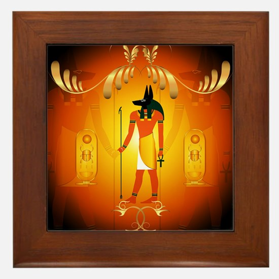 Anubis Framed Tile