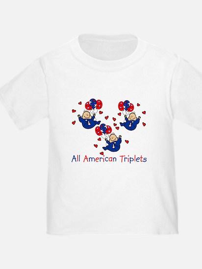 All American Triplets Blue T