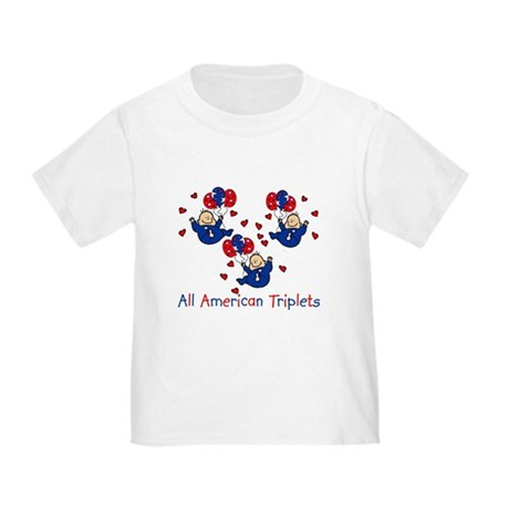 All American Triplets Blue Toddler T-Shirt