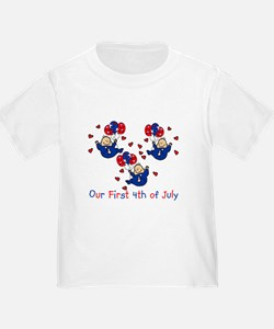 Triplet 1st 4th of July Blue T