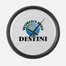 World's Best Destini Large Wall Clock