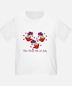 Triplet 4th of July Red T