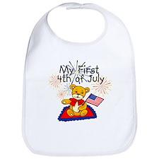 My First 4th of July Bear Bib