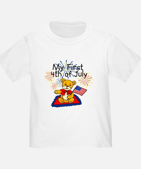 My First 4th of July Bear Baby Toddler TShirt