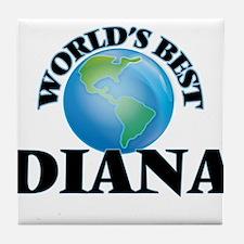 World's Best Diana Tile Coaster