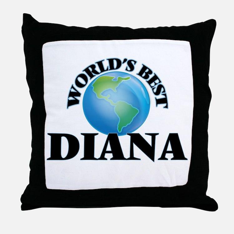 World's Best Diana Throw Pillow