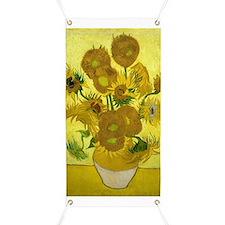 Vincent Van Gogh Fifteen Sunflowers In A Banner