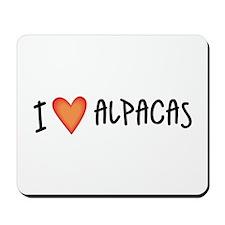I Love Alpacas Mousepad
