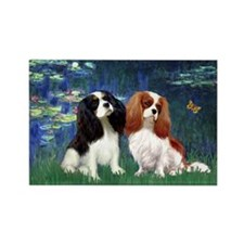 Lilies (5) & Cavalier Pair Rectangle Magnet (10 pa