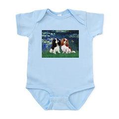 Lilies (5) & Cavalier Pair Infant Bodysuit