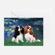 Lilies (5) & Cavalier Pair Greeting Cards (Pk of 1