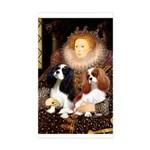 The Queens Cavalier Pair Sticker (Rectangle)