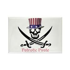 Patriotic Pirate (C) Rectangle Magnet