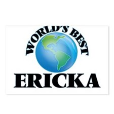 World's Best Ericka Postcards (Package of 8)