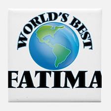 World's Best Fatima Tile Coaster