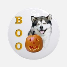 Malamute Boo Ornament (Round)