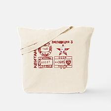 Soviet Postmark Tote Bag