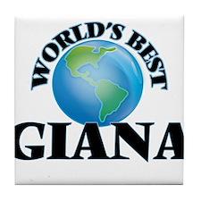 World's Best Giana Tile Coaster