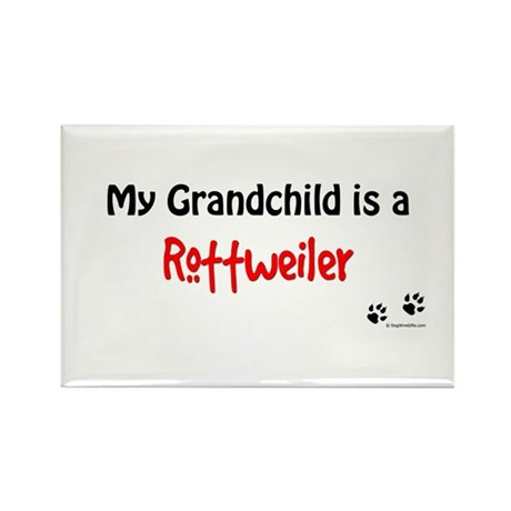 Rottie Grandchild Rectangle Magnet