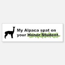 My Alpaca Spat on Your Honor Bumper Bumper Bumper Sticker