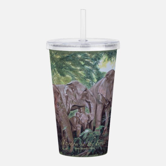 Freedom in the Forest Acrylic Double-wall Tumbler