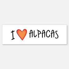I Love Alpacas Bumper Bumper Bumper Sticker