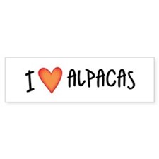 I Love Alpacas Bumper Bumper Sticker
