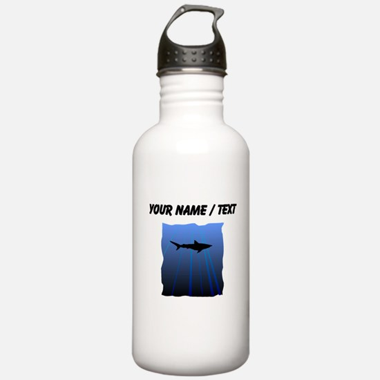 Custom Shark Silhouette Water Bottle
