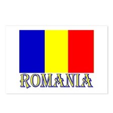Word Romania & Flag Postcards (8)