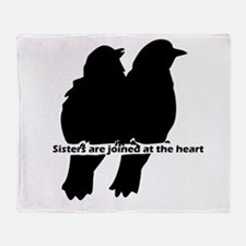 Sisters are Joined at the Heart Family Quote Throw