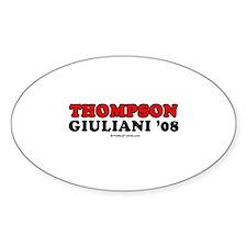 Thompson / Giuliani '08 Oval Decal