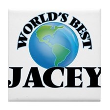 World's Best Jacey Tile Coaster