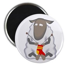 """""""Knitting Sheep"""" Magnet"""