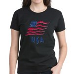 USA Flag Women's Dark T-Shirt