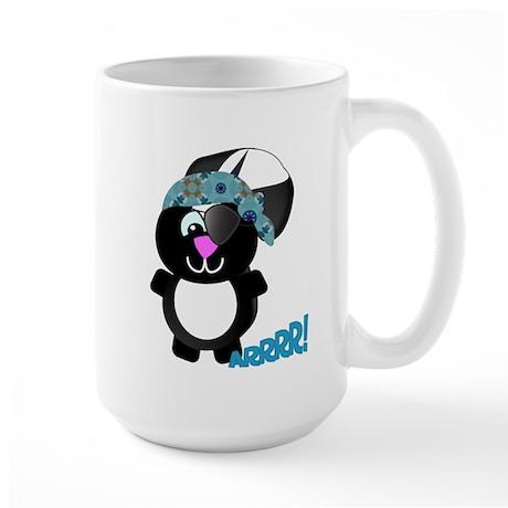 Goofkins Cute Skunk Pirate Large Mug