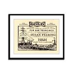 Gold Express Clipper Ships Framed Panel Print