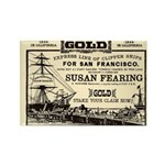 Gold Express Clipper Ships Rectangle Magnet (10 pa