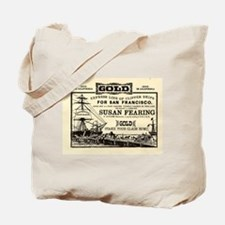 Gold Express Clipper Ships Tote Bag