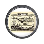 Gold Express Clipper Ships Wall Clock