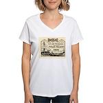 Gold Express Clipper Ships Women's V-Neck T-Shirt