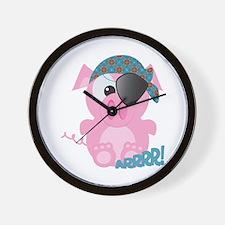 Cute Goofkins Piggy Pig Pirate Wall Clock