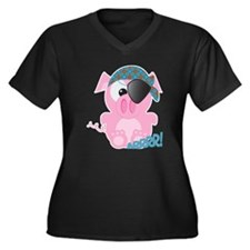 Cute Goofkins Piggy Pig Pirate Women's Plus Size V