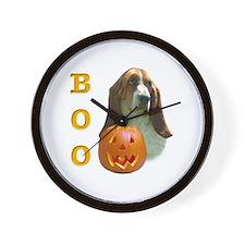 Basset Hound Boo Wall Clock