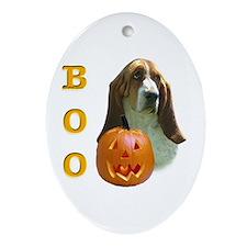 Basset Hound Boo Oval Ornament